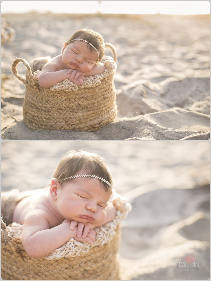 Outdoor Newborn Session at the beach! Essie Rose Photography - Las Vegas Maternity, Newborn and Child Photography | Feeling at Home on the Beach! | http://essierosephotography.com