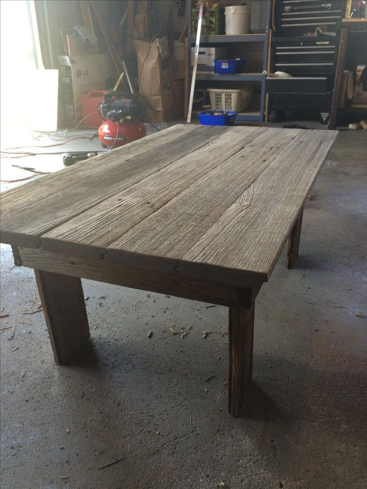This Beautiful Grey Tone Table Is Made From Reclaimed Tongue And Groove Barn Wood
