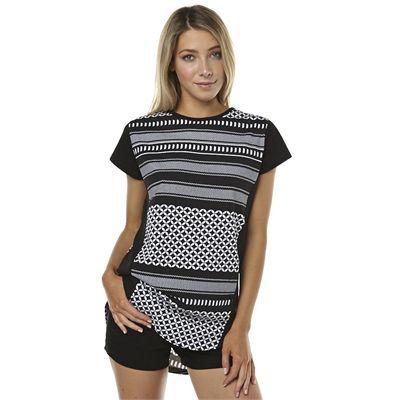 New Rpm Womens Ava Womens Tee Womens T-Shirts T-Shirt Tops Black
