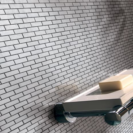 Mineral Mosaics Stainless Steel Tile From Arizona Tile Perfect For Backsplashes And Fireplaces