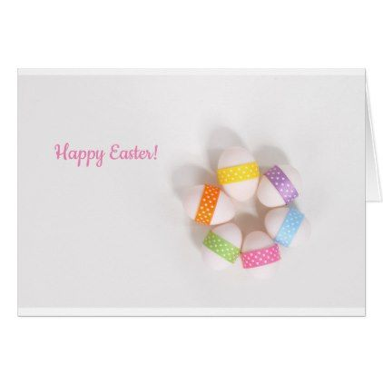 Happy easter greeting card - happy easter egg holiday family diy custom personalize