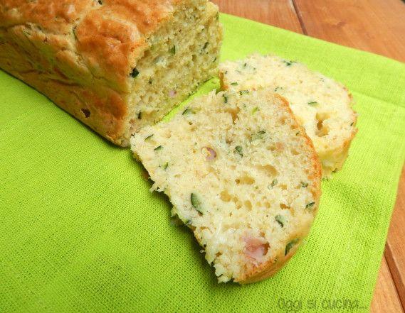 Plumcake zucchine e prosciutto