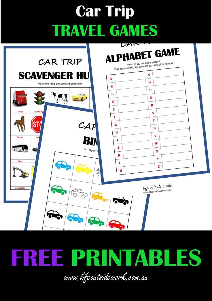 CAR TRAVEL GAMES + free printables