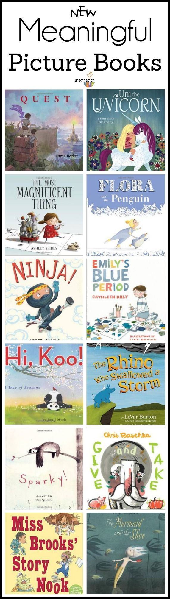 NEW meaningful picture books --> great converation starters for you & your kids!