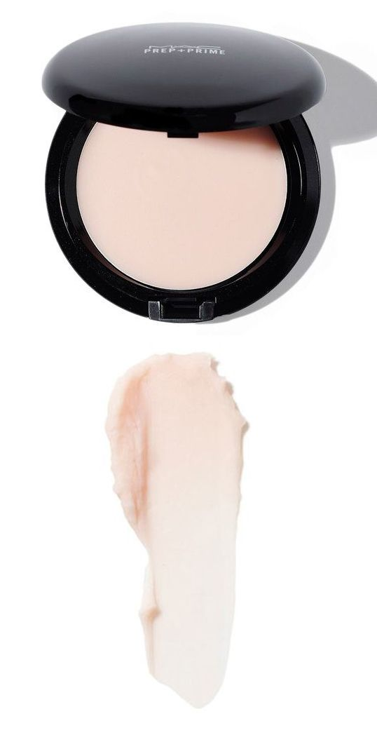 MAC Primer - this stuff is like magic in a compact! It has almost no color, but smooths your skin and makes it way less shiny - almost no need for foundation after this! Also great for photographs.