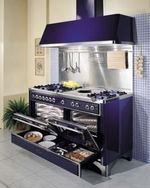 "ILVE Range Collections | ILVE Appliances 60"" Dual Fuel, double oven w/ full length warming drawer. Lust."