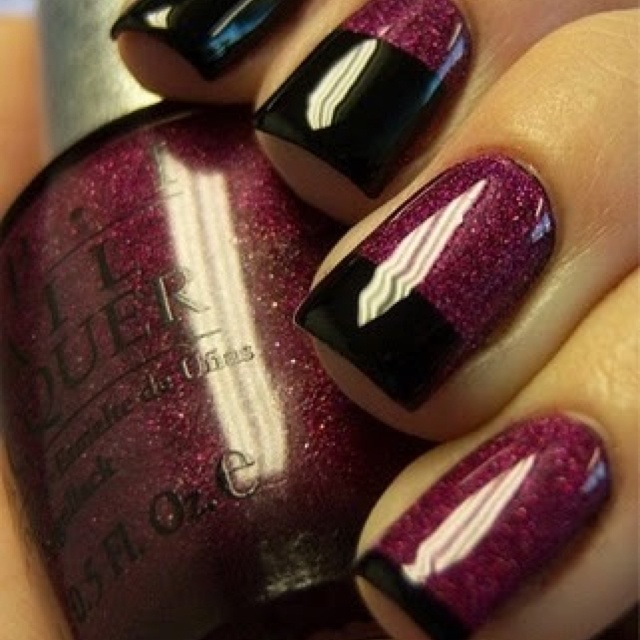 Beautiful nail art for fall...and we love OPI.