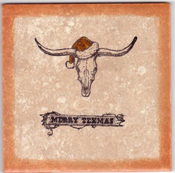 Tile Design: Jimmye Sue Texana Designs Longhorn Santa And Merry Texmas  Stamps
