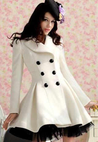 Beautiful and Elegant White Long Winter Coat