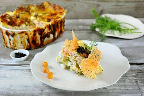 Lasagne met zalm en kabeljauw-Lasagne met zalm en kabeljauw
