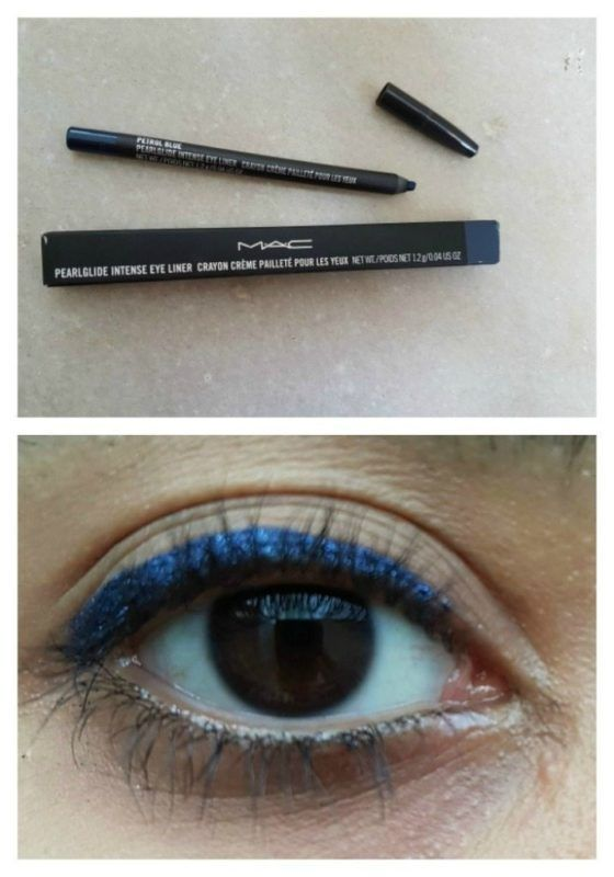 MAC Eyeliner | Petrol Blue | Review | Swatches https://www.glossypolish.com/mac-eyeliner-petrol-blue/#maceyeliner @MACcosmetics