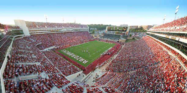 Donald W. Reynolds Razorback Stadium - Fayetteville, AR. #Arkansas #Razorbacks #WPS