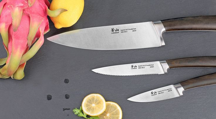 Cangshan A Series 61901 Swedish Steel Forged 3-Piece Starter Knife Set   Cangshan Cutlery   Professional Kitchen Knives