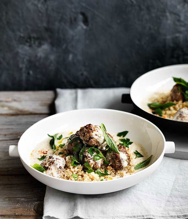 Lamb meatballs with burghul, yoghurt and mint :: Gourmet Traveller