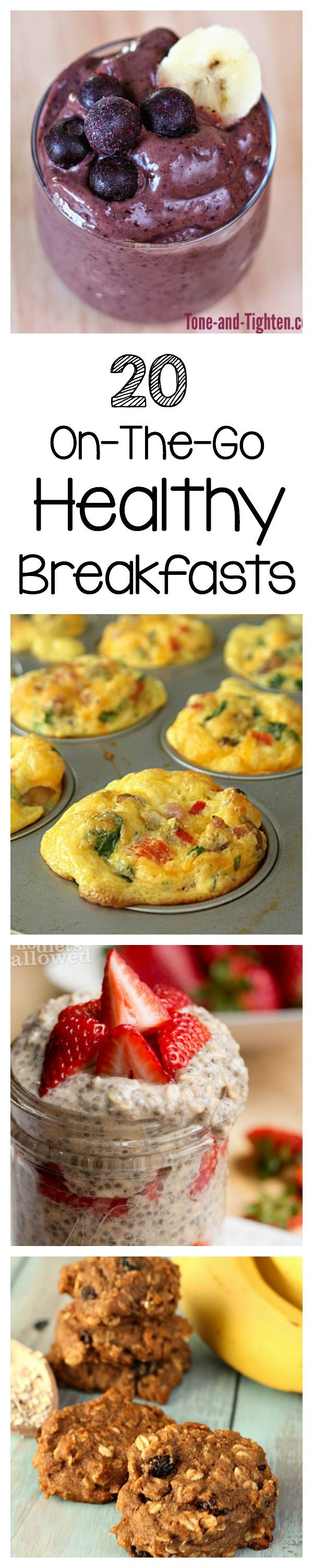 20 On-The-Go Healthy Breakfast Ideas on Tone-and-Tighten.com
