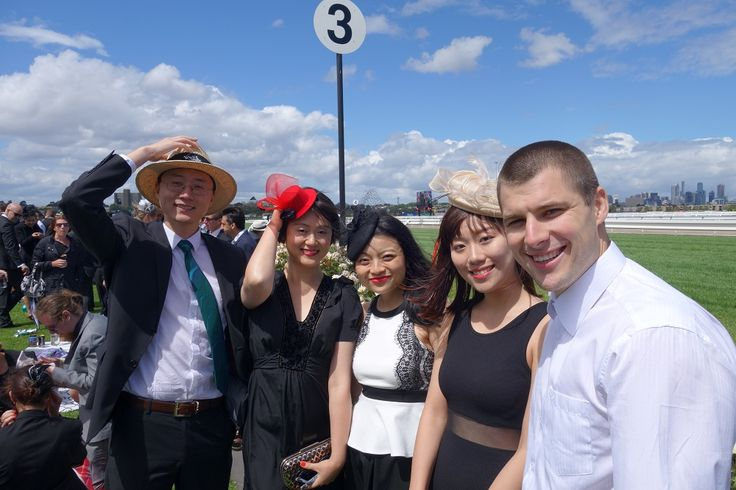 Team Chin studying the form and the language at Derby Day