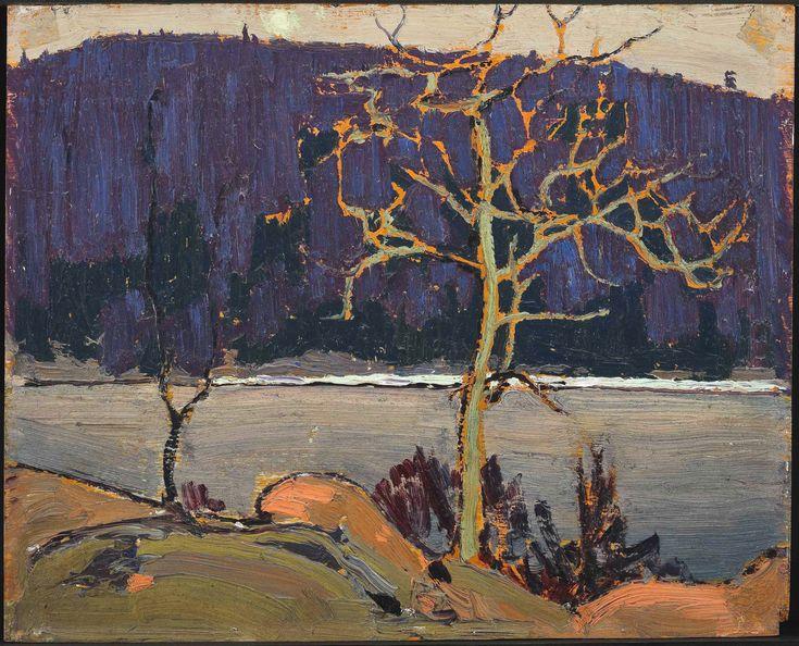 Tom Thomson Catalogue Raisonné | Purple Hill, Spring 1916 (1916.54) | Catalogue entry