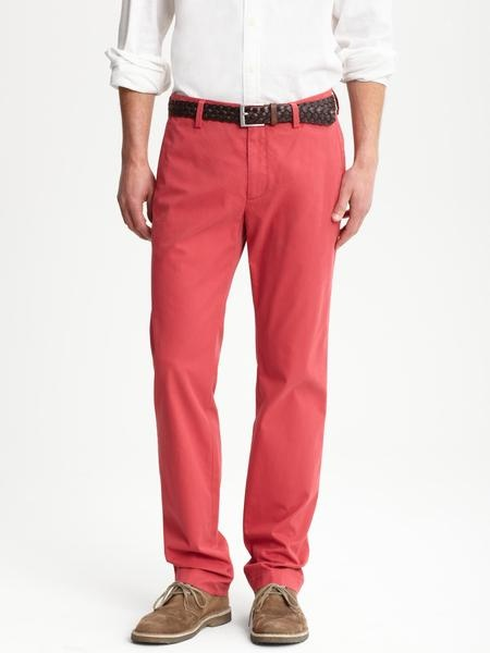 """Groom's (and ushers) trousers - """"nantucket red"""" chinos from Banana Republic"""