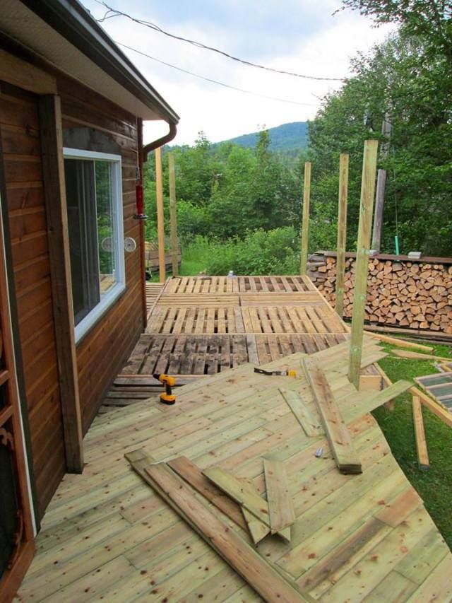 Deck Pallet Project With the right construction experience, you can even build a deck with pallets!
