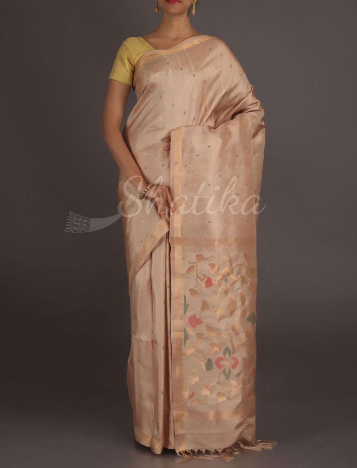 Kanika Gold Lace Border Cream #RealZari #UppadaSilkSaree