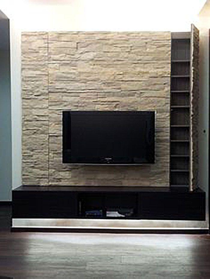 16 besten tv wand mit steinoptik bilder auf pinterest wohnzimmer inspiration und w nde. Black Bedroom Furniture Sets. Home Design Ideas