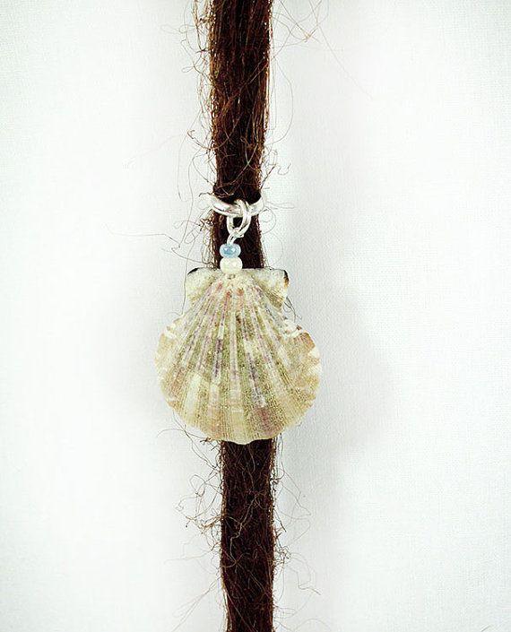 Mermaid SeaShell Dreadlock Bead Silver by PurpleFinchStore on Etsy, $4.25