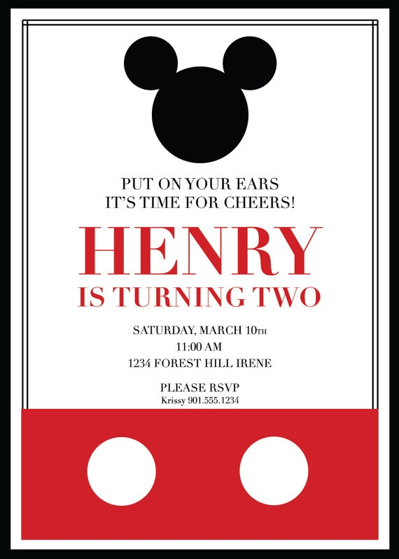 11 best invitations images on pinterest | mickey mouse birthday, Birthday invitations