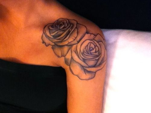black roses shoulder tattoo - Google Search