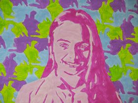 The Calvert Canvas: Adventures in Middle School Art!: Warm & Cool Portraits with Tessellations