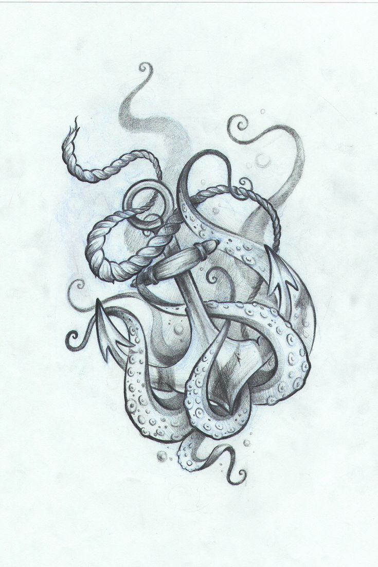 anchor with octopus by ng on behance