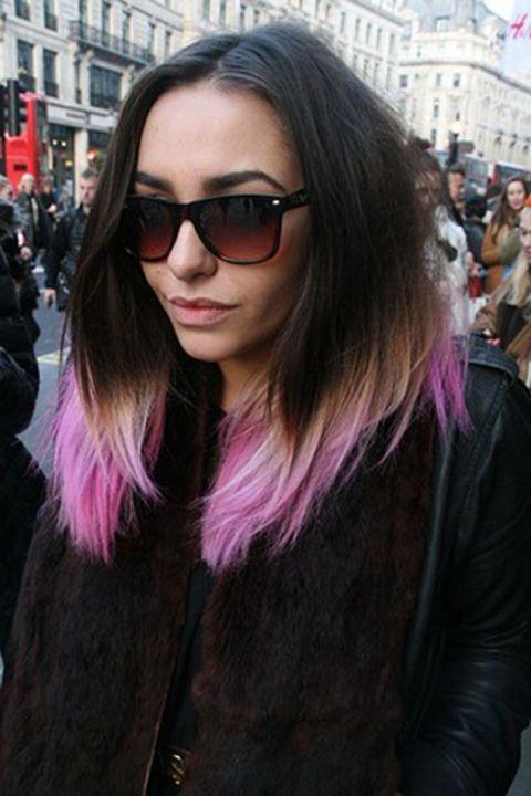 Pink. Dip dye. Brunette.