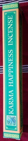 Karma Happiness Incense - Natural Herbal Incense  Este incenso é ideal para praticas de meditação, purificação, pacificando a mente. Fabricado com ingredientes orgânicos. Não tóxico e sem conservantes.