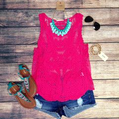 Just purchased this top from LaRue Chic Boutique! VINTAGE ROMANCE TANK IN FUCHSIA