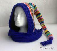 gorro bufanda multicolor de lana un gorro tipo capucha con bufanda incorporada de alegres colores