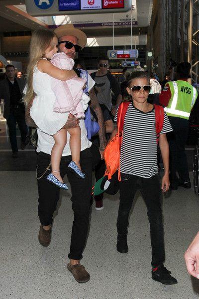 David Beckham Photos - The Beckham Family Is Seen at LAX - Zimbio