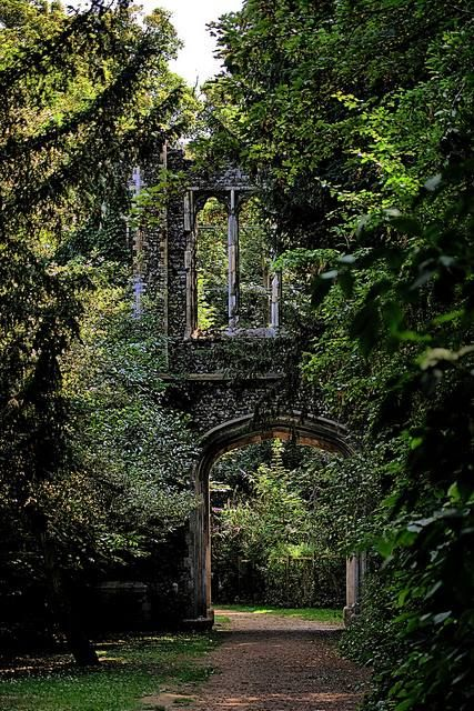The skeletal ruins of a castle become a magnificent Between-Place.  If you past through the portal, will you come upon the sidhe?