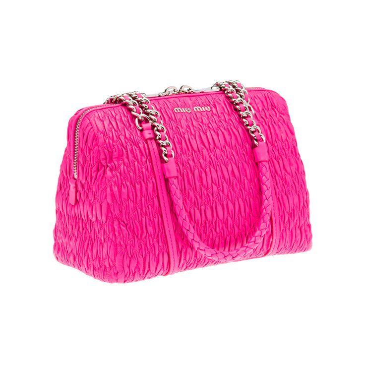 Mui Mui hot pink handbag
