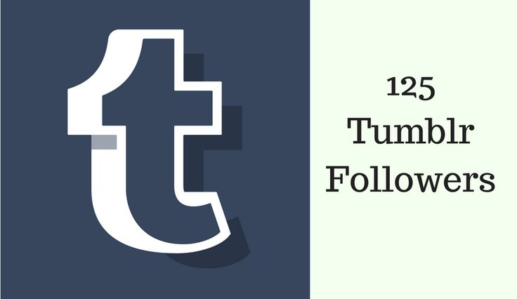 125 Tumblr Followers  Real People for Social Presence.