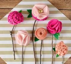 Картинки по запросу роза из фетра выкройки