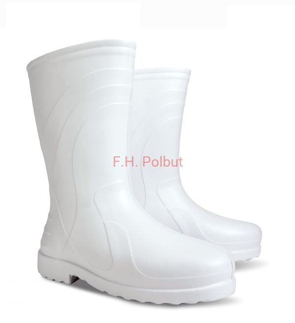 #White #wellies for #women's created with #EVA , #soft and super #light material. Perfect to #wear in #rainy #days. Size from 23.5cm to 25.7cm !