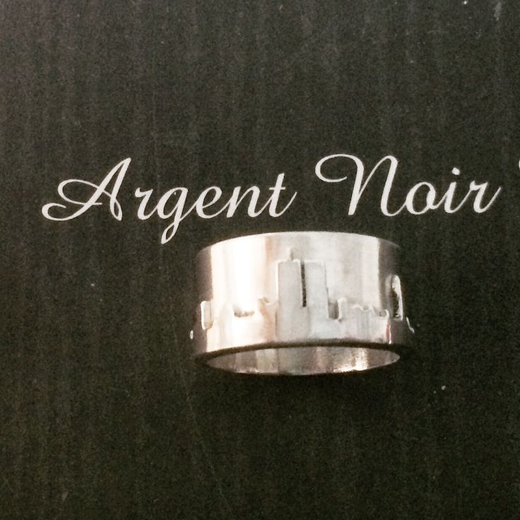 New York skyline silver ring. £75 #handmade #silver #style #fashion #silversmith #craft #forsale