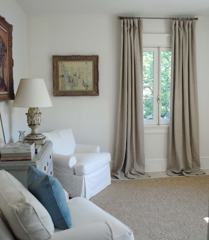 Tone on Tone: My New Home Office-- curtains