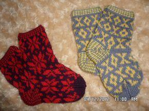 Вязаные носочки с орнаментом. МК - Рукоделие - Babyblog.ru