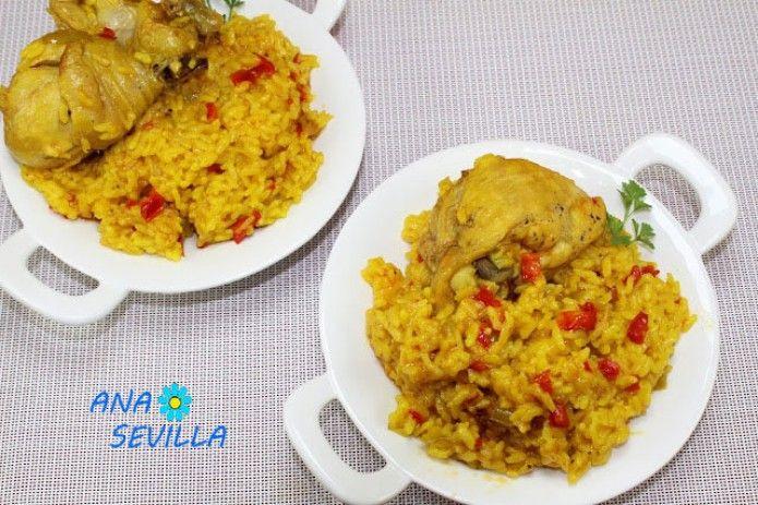 Arroz Con Pollo Al Curry Tradicional Juani De Ana Sevilla Recetas Thermomix Olla Gm Pollo Al Curry Arroz Con Pollo Arroz Con Carne