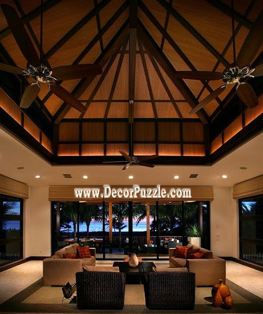 excellent living room ceiling design. Innovative The Simply Luxurious Life convention Other Metro Tropical Living  Room Designs with area rug basket beams blinds ceiling dark trim 1271 best Ceiling designs images on Pinterest design Roof