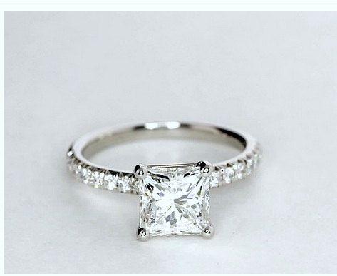 1.25ct Princess cut diamond Engagement Ring GIA certified 18kt White Gold SOLAR DIAMONDS