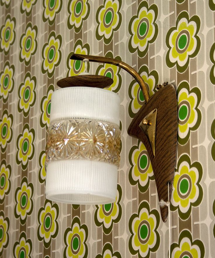 Vintage 1960s/70s Retro Bedside Wall Light Fitting with White & Lustre Glass Shade by UpStagedVintage on Etsy