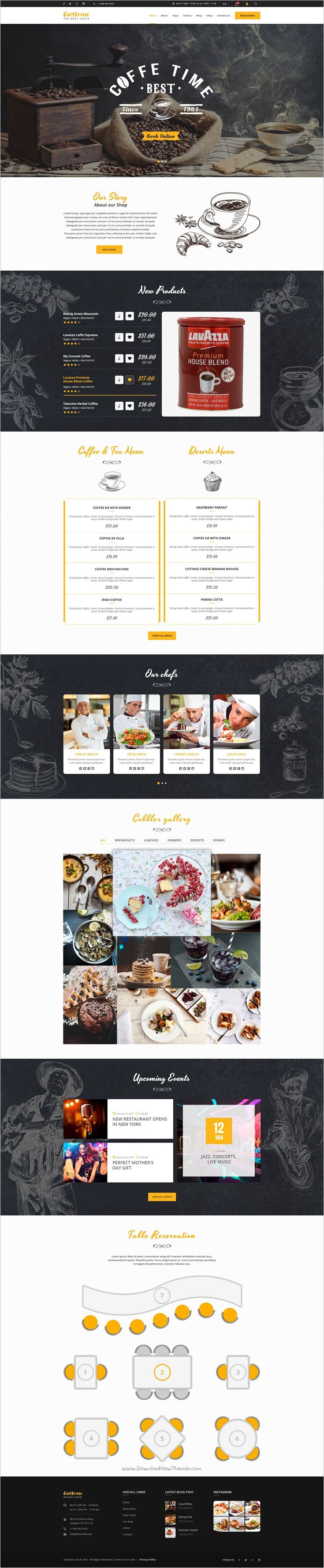 Gusteau Restaurant PSD Template 111 best