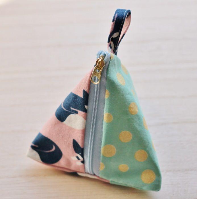 絶妙な大きさのテトラポーチ(三角ポーチ) 裏地付きの作り方|ソーイング|編み物・手芸・ソーイング|ハンドメイド・手芸レシピならアトリエ