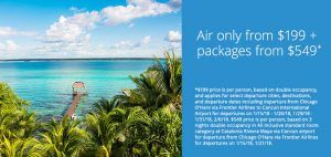 Select Midwest Cities Direct Air & Air & Hotel Package Specials